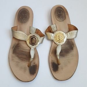 JACK RODGERS 7.5 Gold LARISSA Thong Sandals